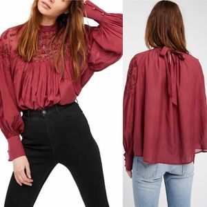 Free People Have It My Way Embroidered Top